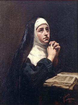 Imagen pintura monja